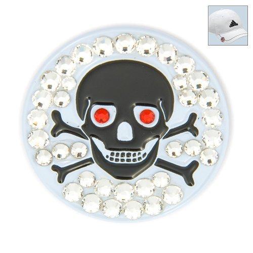 Crystal Skull Hat (Bonjoc Swarovski Crystal Golf Ball Marker & Hat Clip - Skull & Bones)
