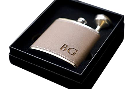 amazon com personalized flask set engraved custom flasks gift