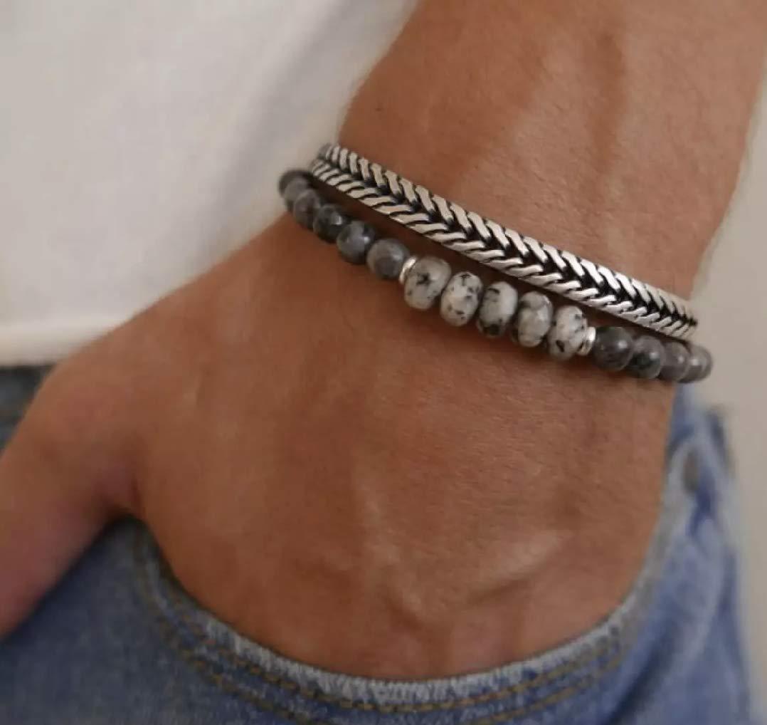 3 bracelet Set for Men Stack of bracelets Mens Bracelet Set Layered Bracelets Beaded Bracelet for Him Gemstone Bracelets For Him