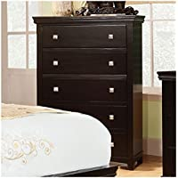 Furniture of America CM7113EX-C Pebble Espresso Chest Drawer