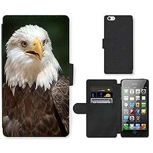 hello-mobile PU LEATHER case coque housse smartphone Flip bag Cover protection // M00135914 Águila calva águila del pájaro de la // Apple iPhone 5 5S 5G