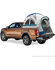 """North East Harbor Pickup Truck Bed Camping Tent, 2-Person Sleeping Capacity, Includes Rainfly and Storage Bag - Fits Compact Truck with Regular Bed - 72""""-73"""" (6'-6'1"""") - Gray and Blue"""