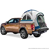 "North East Harbor Pickup Truck Bed Camping Tent, 2-Person Sleeping Capacity, Includes Rainfly and Storage Bag - Fits Full Size Truck with Regular Bed - 76""-80"" (6.4'-6.7') - Gray and Blue"