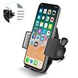 f150 air vent - Car Phone Holder Mount, Quntis Air Vent Phone Mount with Quick Release Button and Firm Grip Holder for iPhone Samsung Galaxy LG GPS and More (Black)