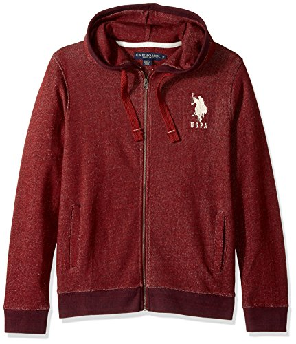 U.S. Polo Assn. Men's Hoody Pullover Sweatshirt, 8631-Copper Stone, -