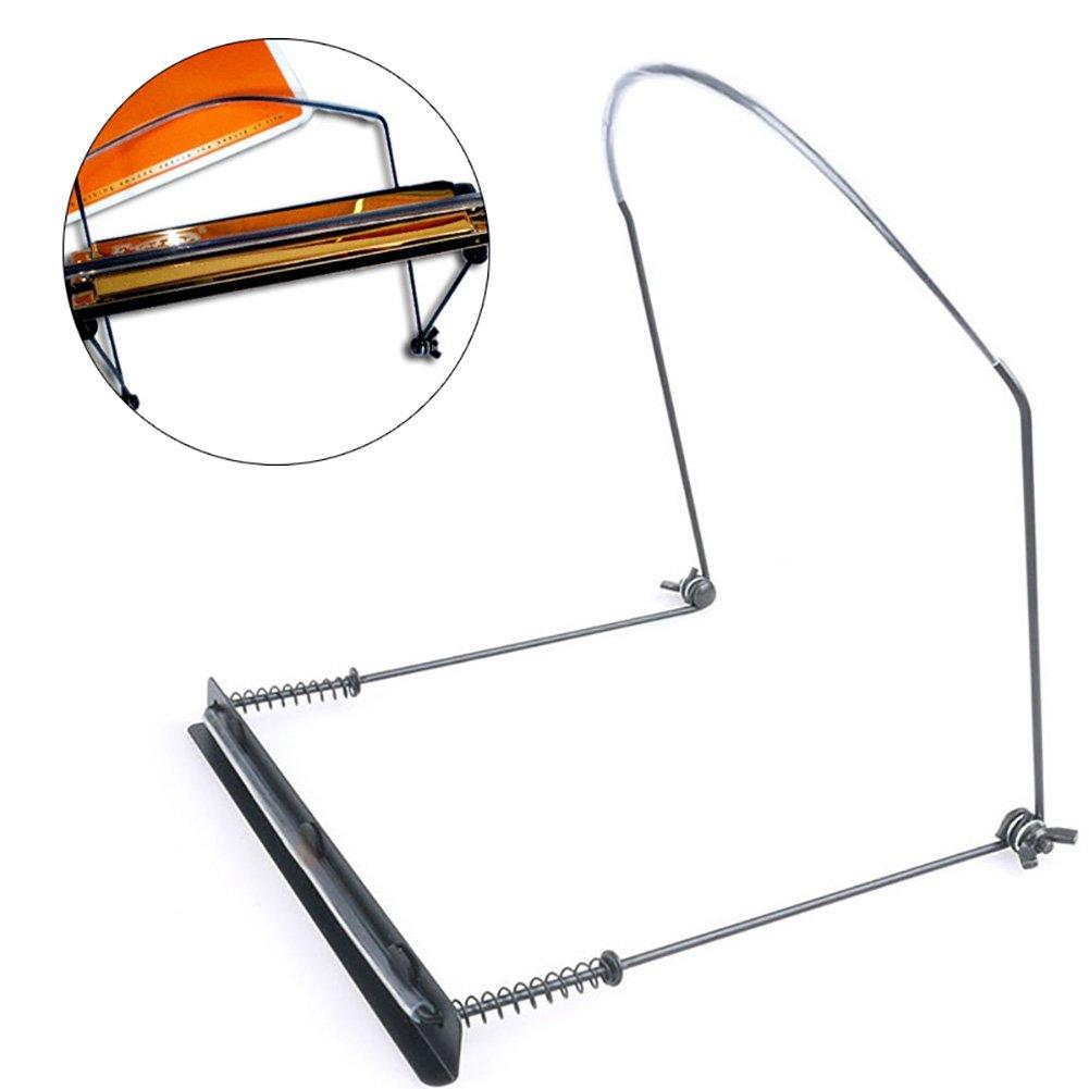 Yunso Harmonica cou Rack, métal, harpe Rack Harmonica support–Sélection de 10trous ou 24trous m 24 Holes