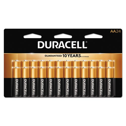 CopperTop Alkaline Batteries with Duralock Power Preserve Technology, AA, 24/Box, Sold as 1 Box