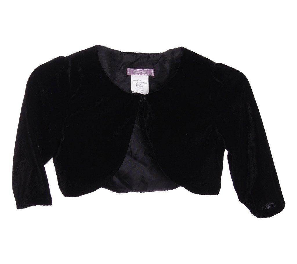 Dorissa ''Very Velour'' Black Bolero Size 7