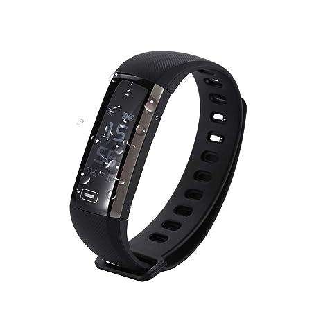 EMEBAY Pulsera Inteligente Impermeable Reloj Inteligente Fitness Tracker Presión de la sangre Oxígeno Oxímetro Pasómetro Pulsómetro