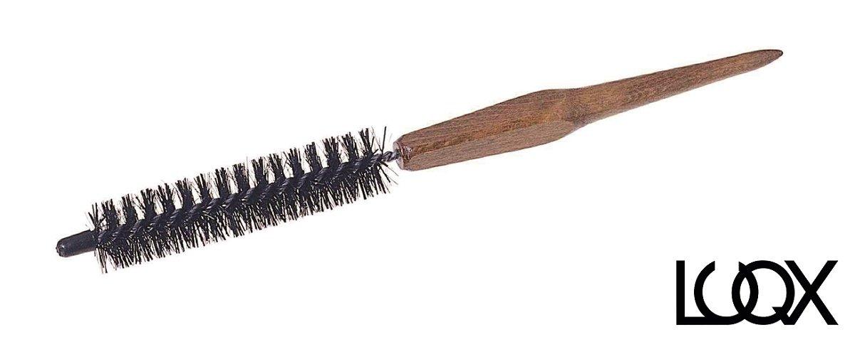 LUQX, spazzola per capelli rotonda speciale: Spazzola per fon, spazzola tonda in legno | spazzola piccola tonda per capelli con setole in nylon.