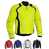 FirstGear Mesh Tex Men's Mesh Sports Bike Motorcycle Jacket - Silver/Black - Large