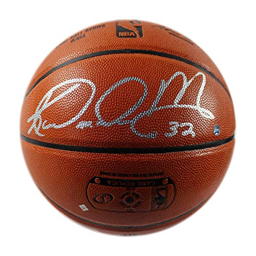 Karl Malone Signed Spalding NBA Indoor/Outdoor Basketball - Steiner Sports Certified - Autographed -