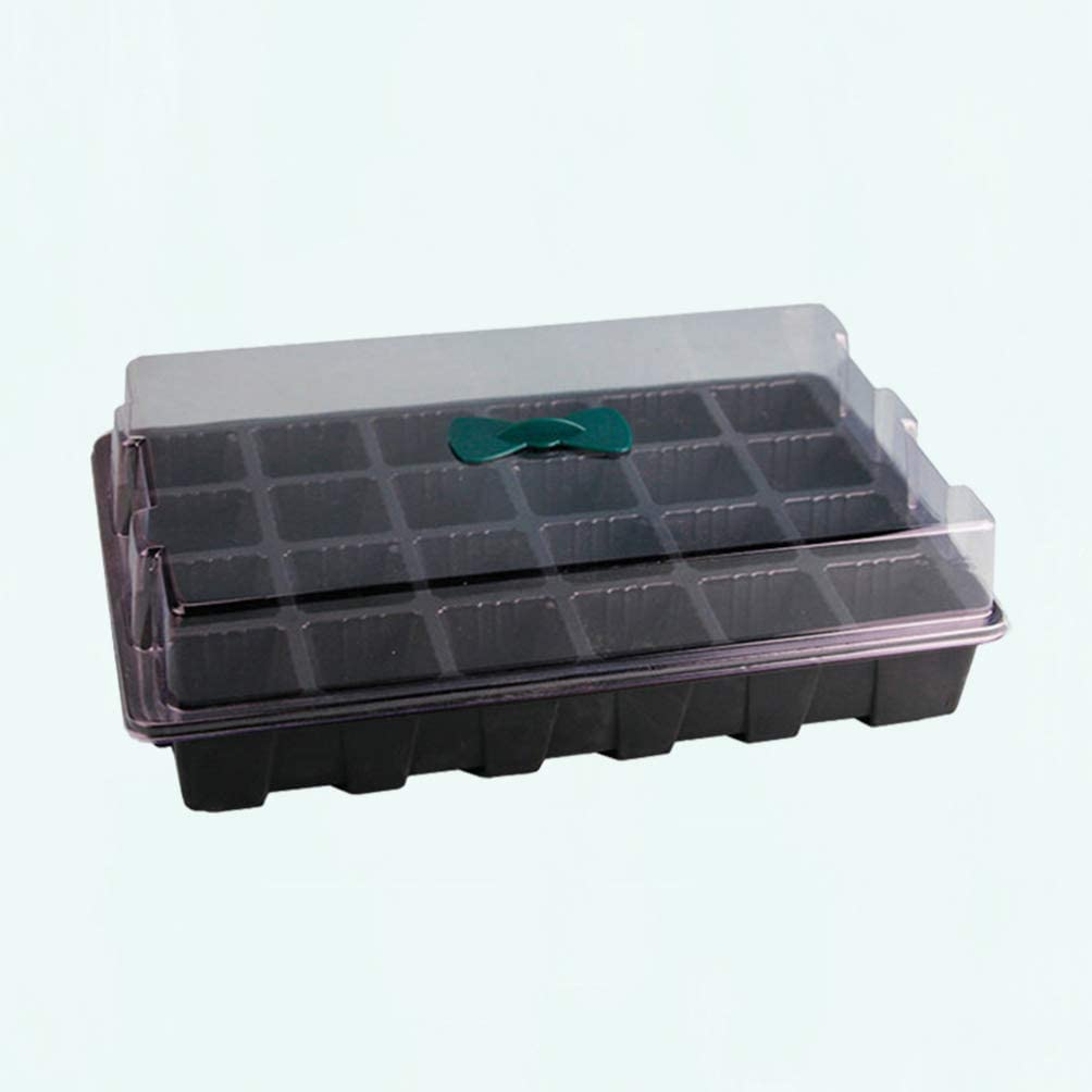 TOPBATHY 3pcs//Set Seedling Starter Trays Grow Trays Plant Starter Pods for Seed Germination Seed Starting Growing Pot 24 Cells