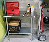 AmGood Stainless Steel Work Table with Under-Shelf