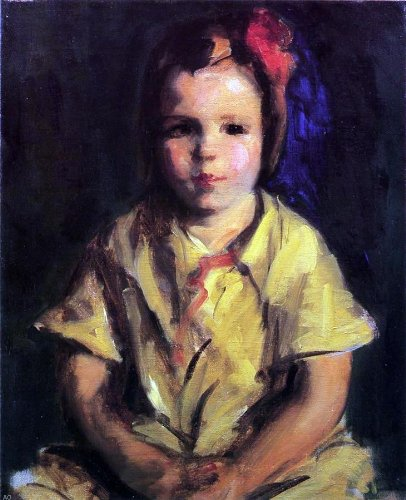 Robert Henri Portrait of Faith - 20'' x 25'' 100% Hand Painted Oil Painting Reproduction by Art Oyster