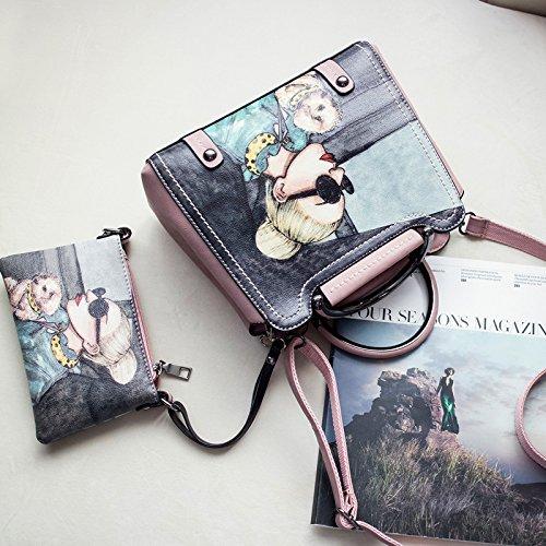 LiXiang Paket weiblichen Neue müssen cross-Paket koreanischen Mode Damen Taschen Freizeit Stempel dann Schulter Tasche Tragetasche (26 cm breit, 12 cm lang, 22 cm) Kleine Toner kleines Paket zu senden
