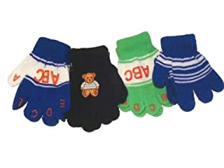 Set of Two Pairs Magic Mittens for Infants Ages 3-12 Months 1 Pair with Monogram