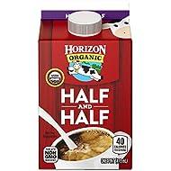 Horizon Organic Half & Half, Ultra Pasteurized, 1 Pint