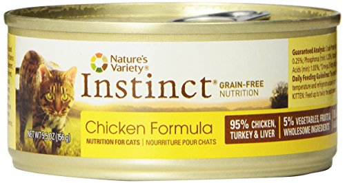 Instinct Grain-Free Chicken Canned Cat Food by Natures Variety 5.5 oz Cans (Case of 12)