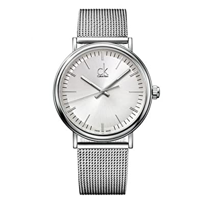 Calvin Klein K3W21126 Watch Surround Mens - Silver Dial Stainless Steel Case Quartz Movement
