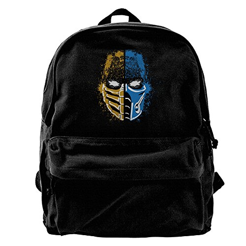 Gee Scorpion Vs Sub Zero Mortal Kombat Canvas Backpack For School Travel Rucksack  Fits Up To 14 Inch Laptop