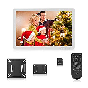 Andoer 17 Inch LED Digital Photo Frame with Remote Control,Full IPS Screen and 1920 * 1080 Resolution,Supports Photo…