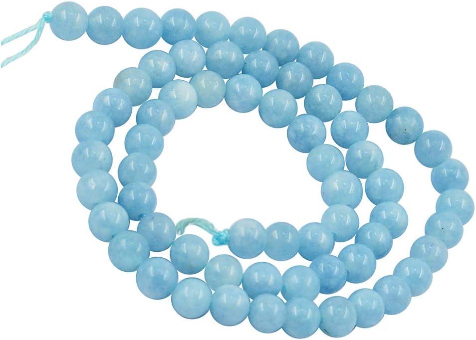 1 Hebra de 15 Pulgadasde Jade Natural Que Hace Piedra Redonda Perlas Sueltas - 6 mm