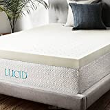 4 Inch Mattress Topper LUCID 4 Inch Memory Foam Mattress Topper 3-Year Warranty - Queen