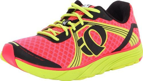 Pearl iZUMi Women's EM Road H3 Running Shoe,Electric/Pink/Lime,8 B US