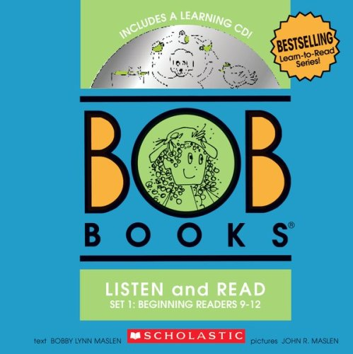 BOB Books Set 1 Bind-up: Books #9-12 + CD