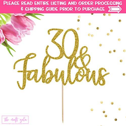Delia32Agnes - Decoración para Tarta de 30 cumpleaños y ...