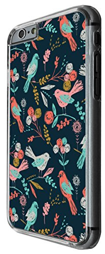 1173 - Floral Shabby Chic Retro Multi Birds Design For iphone 6 6S 4.7'' Fashion Trend CASE Back COVER Plastic&Thin Metal -Clear
