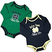 Notre Dame Baby Fan 2-Pack Bodysuits, 3-6 Months