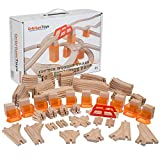 Best Wooden Train Sets - 110 PCs Orbrium Toys Multi-Level Wooden Train Track Review
