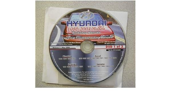 1986 1995 HYUNDAI ELANTRA EXCEL SCOUPE SONATA Service Manual CD Factory Original