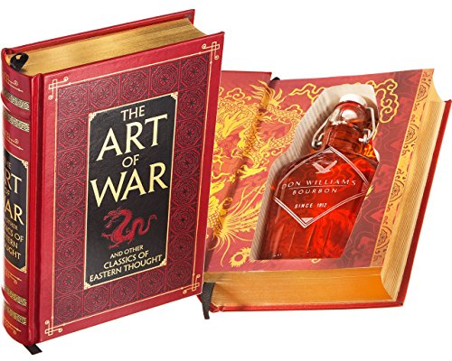 Flask Hollow Book - The Art of War by Sun Tzu (Leather-bound) (Magnetic Closure) (Custom-Etched)