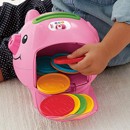 51Hsf22kvrL - Fisher-Price Laugh & Learn Smart Stages Piggy Bank [Amazon Exclusive]