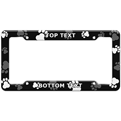 Graphics and More Personalized Custom Paw Print Dog Cat Pattern License Plate Frame: Automotive