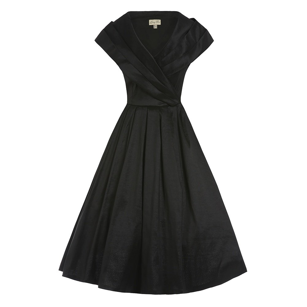 14a8ce3521774 Top1: Lindy Bop \'Amber\' Black Occasion Swing Dress