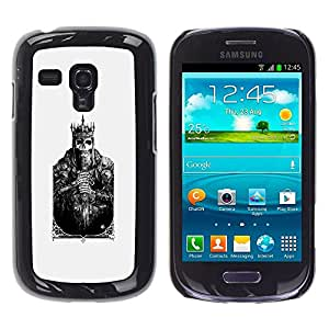 For Samsung Galaxy S3 III MINI (NOT FOR S3!!!) / i8190 / i8190N, S-type® Card Skull Poster Poker Death - Arte & diseño plástico duro Fundas Cover Cubre Hard Case Cover