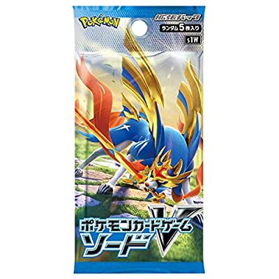 (1pack) Pokemon Card Game V Sword & Shield Expansion Pack Sword Japanese.ver (5 Cards Included): Toys & Games