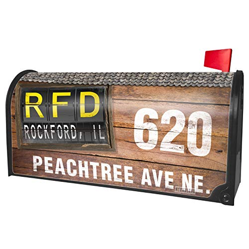 (NEONBLOND Custom Mailbox Cover RFD Airport Code for Rockford,)