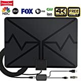 TV Antenna,Indoor Digital HDTV Antenna Amplified 80 Miles Range 4K HD VHF UHF Signals for Life Local Channels Broadcast with 19ft Coax Cable,Support All Types of TV