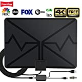 rv accessories tv antenna - TV Antenna,Indoor Digital HDTV Antenna Amplified 80 Miles Range 4K HD VHF UHF Signals for Life Local Channels Broadcast with 19ft Coax Cable,Support All Types of TV