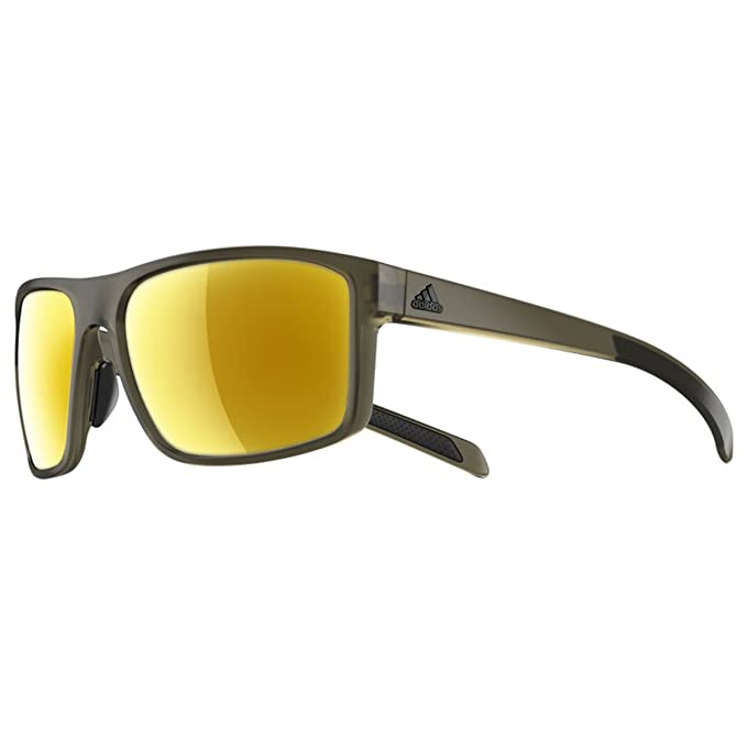 8a1550f96a8 Adidas a423 6063 Olive Matte Whipstart Rectangle Sunglasses Lens Category 3  Len  Adidas  Amazon.ca  Clothing   Accessories