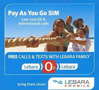 Amazon Com Lebara Uk Sim Card With 10 Of Credit