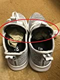 One shoe is larger then another one in a same pair.