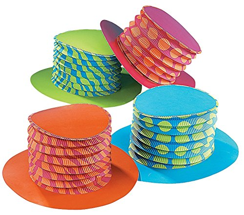 Accordion Mad Hatter Party Hats