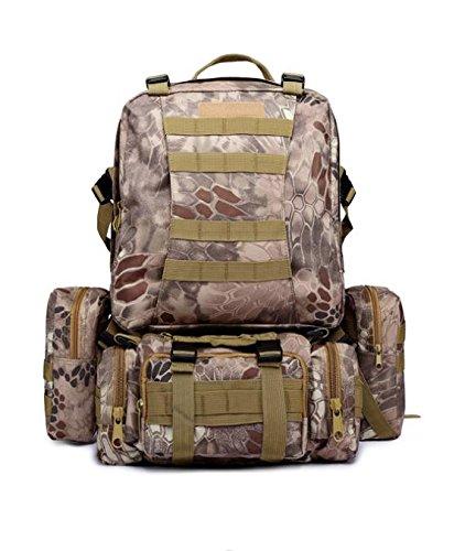HCLHWYDHCLHWYD-mochila bolsa combinación al aire libre los hombres bolsa impermeable bolsa de viaje de gran capacidad mochila y mujeres Ma Lasong de esquí de fondo de montar mochila , 1 6