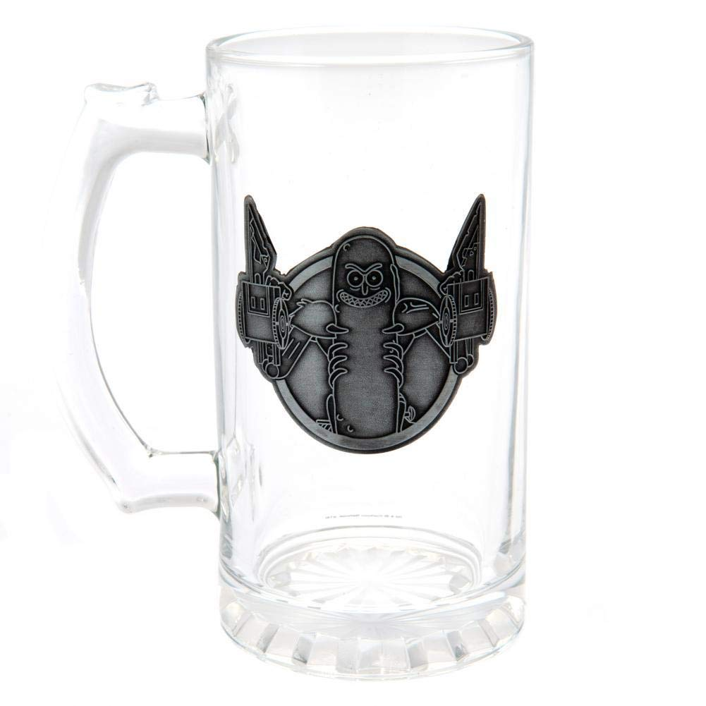 Rick And Morty Official Pickle Rick Glass Tankard Clear One Size